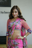Actress Angela Krislinzki in Pink Saree Blouse Exclusive Pics March 2017 ~  075.JPG