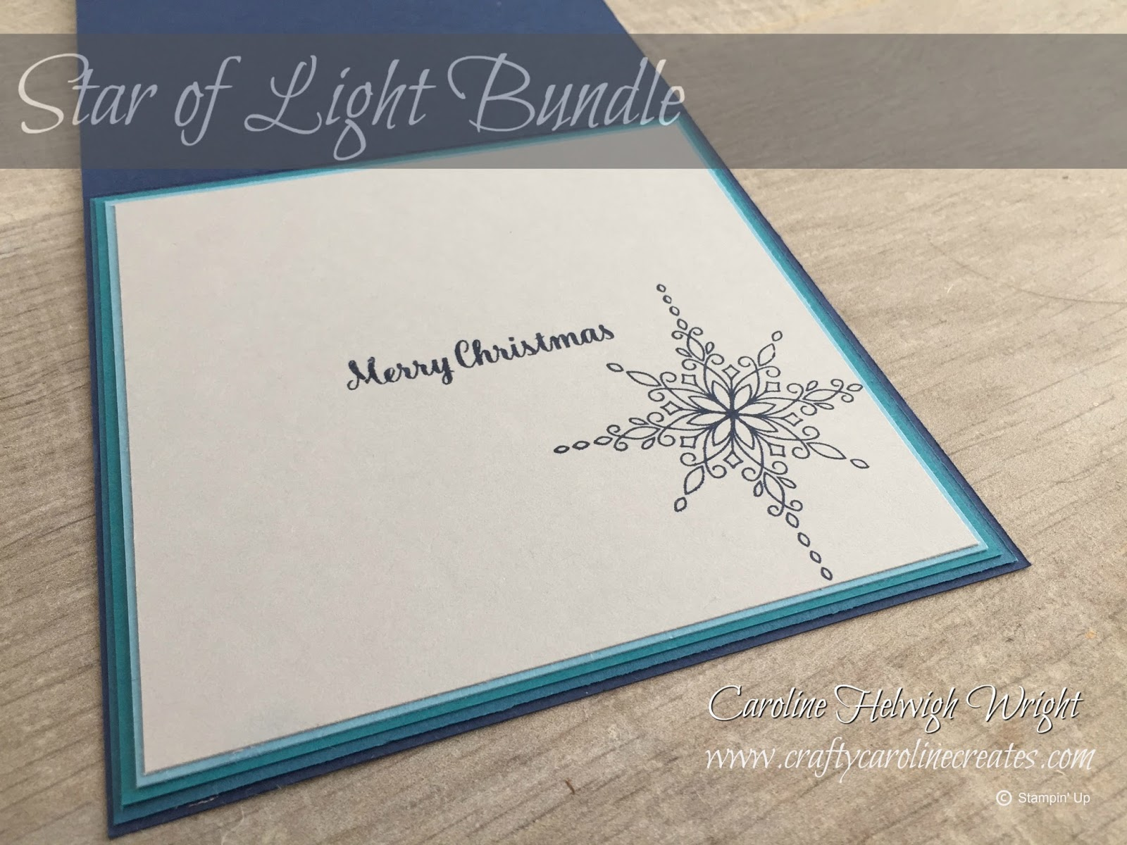 CraftyCarolineCreates: Star Burst Christmas Card Idea using Star of ...