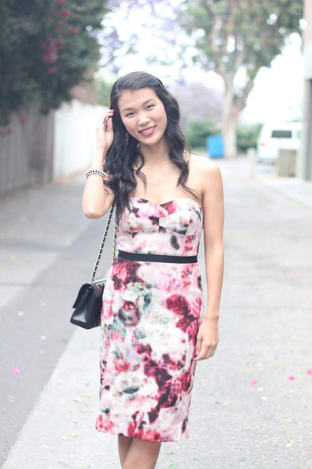 life by appointment floral graduation dress