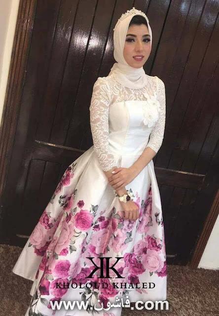 فستان سواريه موضة 2017 للمحجبات