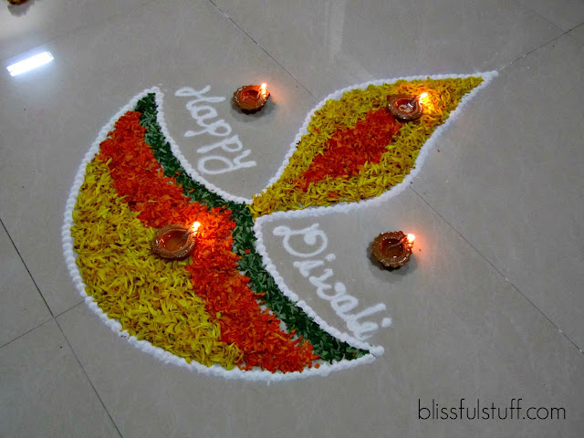 Easy Happy Diwali Rangoli Designs