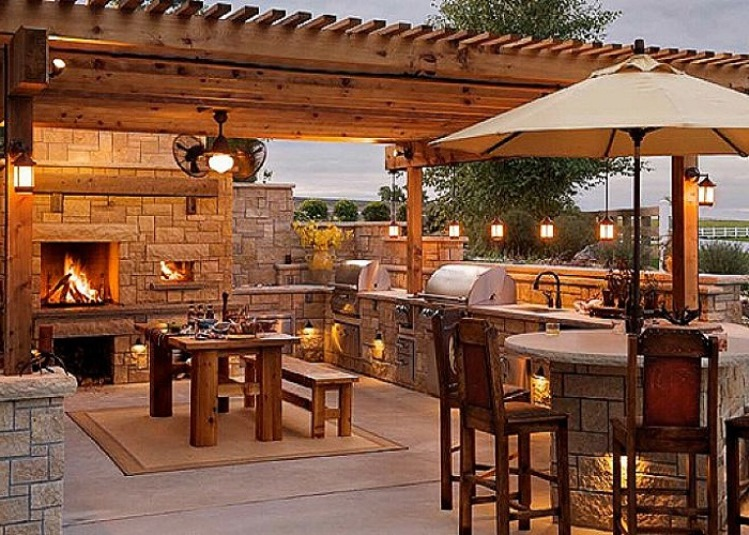 build an outdoor kitchen in the right way and simple plans design - Outdoor Kitchen Lighting Ideas