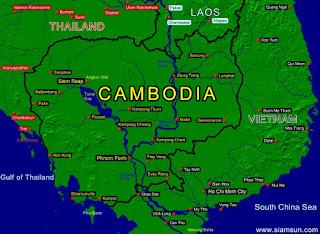 Mapa de Camboya.