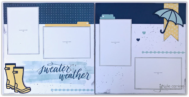 Monthly scrapbooking layouts