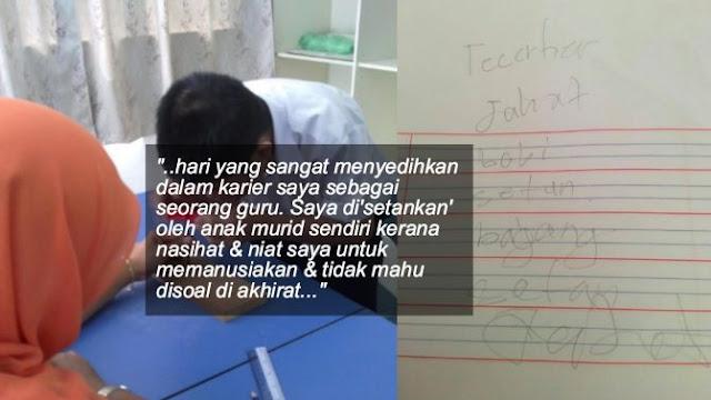 Digelar Setan & Babi Oleh Murid, Lihat Cara Guru Ini Tangani Pelajar Memberontak… Respect!