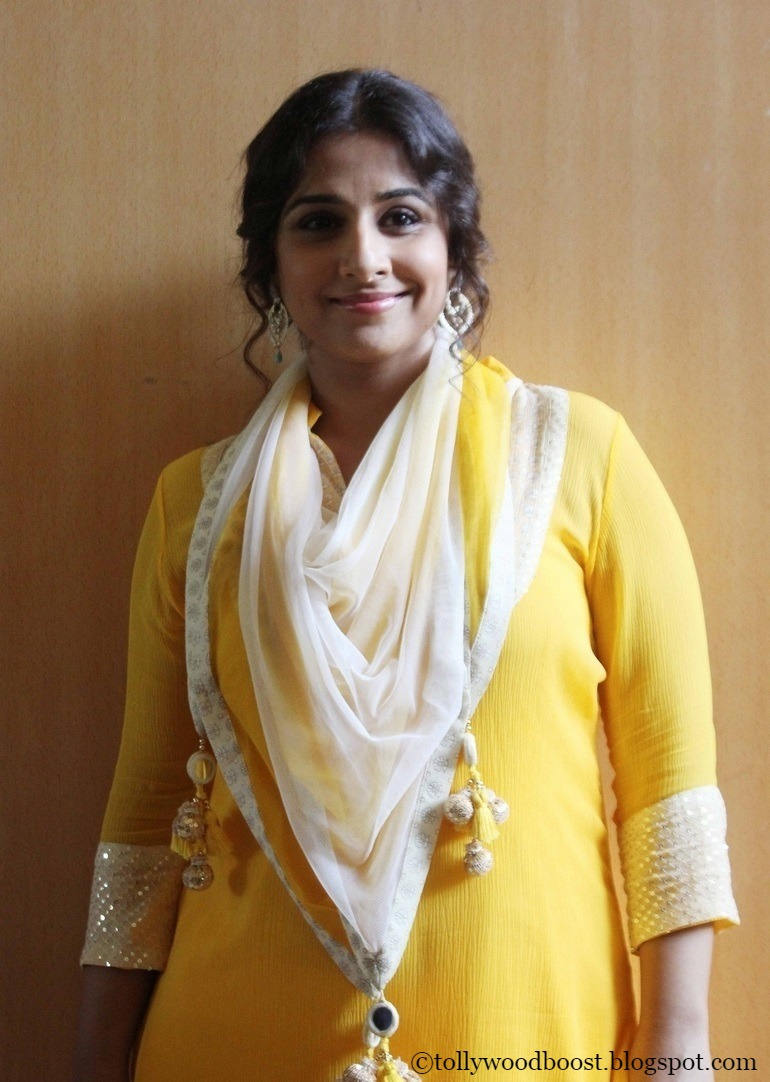 Bollywood Actress Vidya balan Hot Photos In Yellow Dress