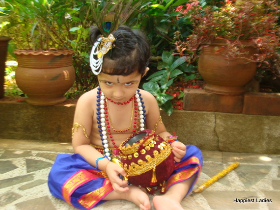 indian kids as Lord Krishna