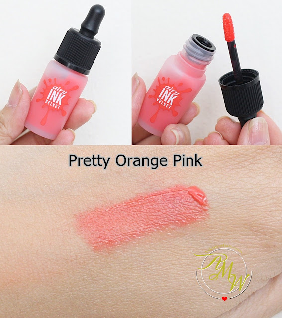 a photo of PeriPera's Airy Ink Velvet Pretty Orange Pink