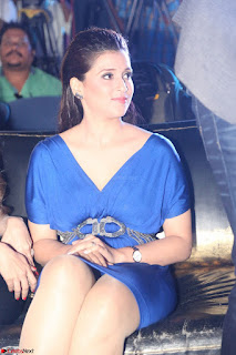 Mannara Chopra in Short Blue Dress at Rogue Movie Teaser Launch 1st March 2017 028.JPG