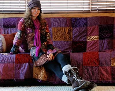 patchwork+dress - Purple Aplenty: Astral Skies Patchwork Dress