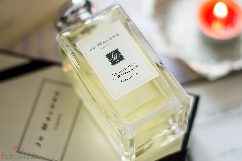 Jo Malone English Oak Redcurrant Etikett nah