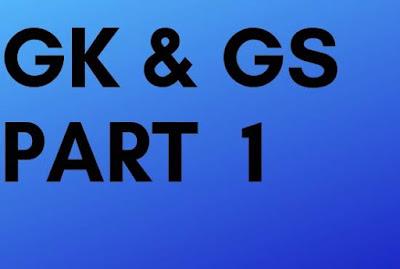 GK & GS HINDI AND ENGLISH PART 1