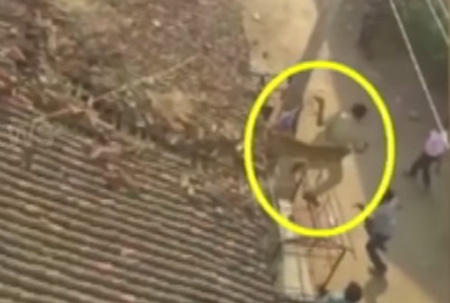 Forest Officials escapes from Cheetah in a narrowly