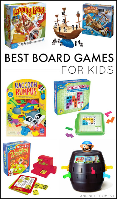 The best board games for kids, including board game suggestions for toddlers and preschoolers, as well as board game suggestions for ages 6+ from And Next Comes L