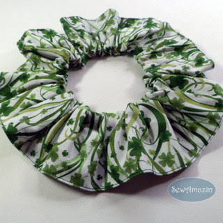 Shamrock Celebrations Pet Scrunchie Ruffle