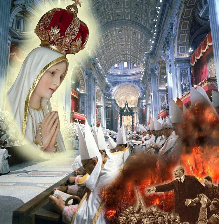 O Concilio Vaticano II poderia se ter pronunciado sobre a profecia celeste de Fátima e condenado a profecia satánica do comunismo Mas preferiu ficar em silêncio