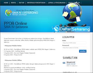 Download Aplikasi Penerimaan Siswa Baru (PSB) Online Berbasis Web Informasi Pendaftaran