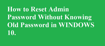 Reset Windows 10 password command prompt | Reset windows 10 password cmd