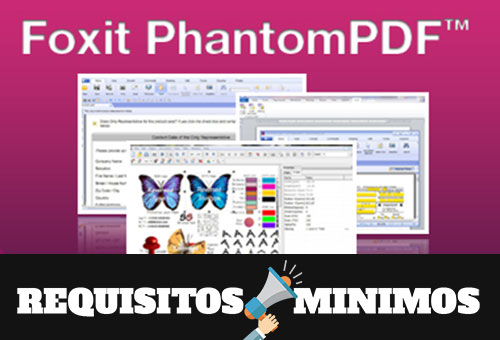 Foxit PhantomPDF Business 8 - Requisitos mínimos