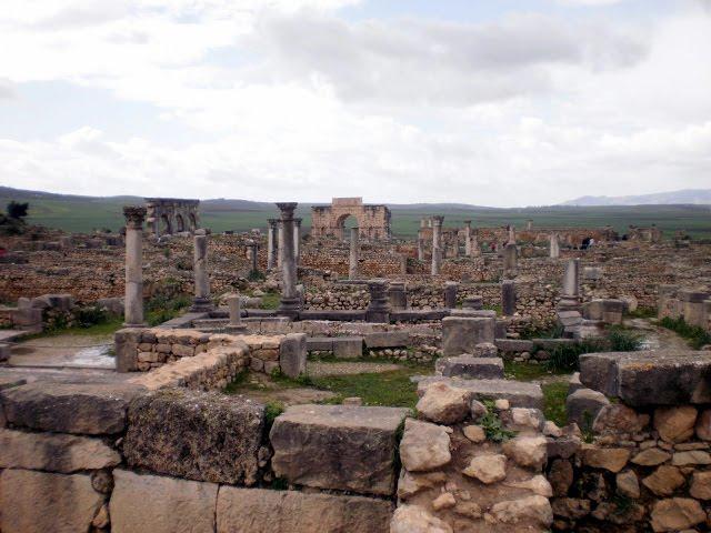 Ruinas romanas Vollubilis Marruecos