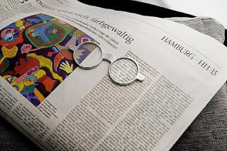 Lupa Okulary - nikiel, szkło powiększające