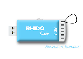 menggambar digital flashdisk photoshop