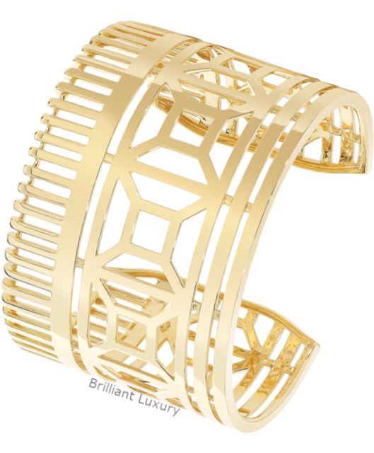 Brilliant Luxury♦Boucheron Paris Quatre Radiant Edition cuff bracelet