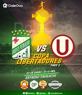 Oriente Petrolero vs Universitario de Perú - Copa Conmebol Libertadores - Pollos Buly Buly - Parrillada Oriente Petrolero - Super Milaneza - Hache Barber Studio - DaleOoo