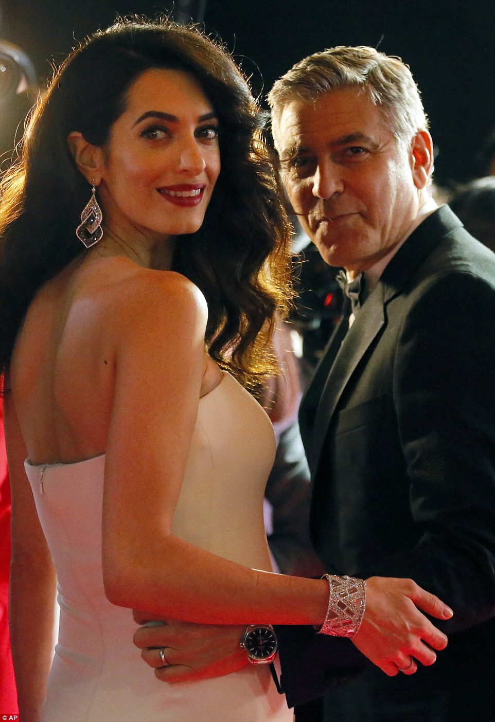 Pregnant Amal Clooney Attends Cesar Awards in Paris