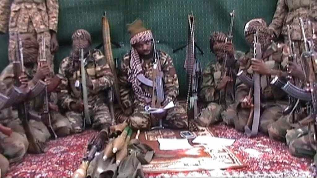 Chefe do Boko Haram e sequazes na Nigéria