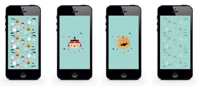 [freebie] Pequeña colección de fondos de teléfono móvil para Halloween