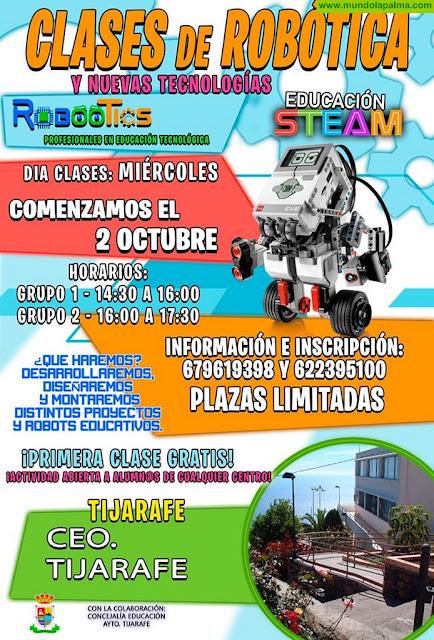Clases de Robótica y Nuevas Tecnologías en Tijarafe