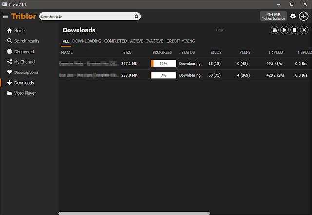 Tribler 7.2.2 | Cliente BitTorrent anónimo basado en la red TOR