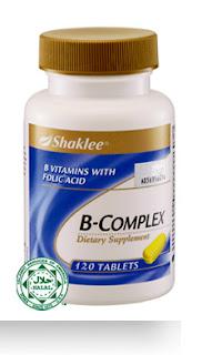 bcomplex shaklee, legakan loya, legakan mabuk mengandung, asid folic