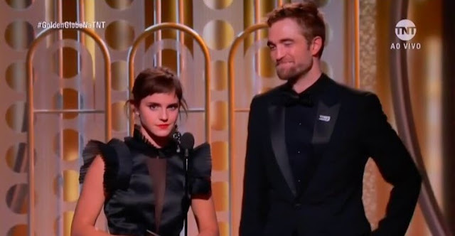 Emma Watson e Robert Pattinson anunciam prêmio no Globo de Ouro 2018 | Ordem da Fênix Brasileira