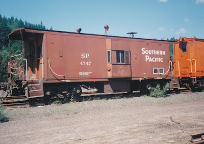 Southern Pacific C-50-9 Caboose #4747 in Oakridge, Oregon, on July 18, 1997