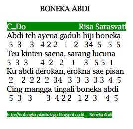 Not Angka Pianika Lagu Boneka Abdi Risa Saraswati