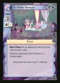 My Little Pony A Petite Sneeze Defenders of Equestria CCG Card
