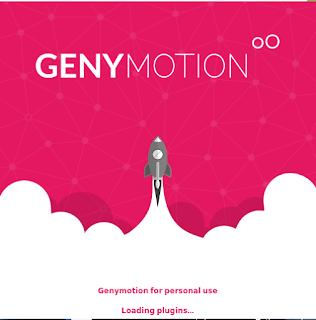 Genymotion loading window