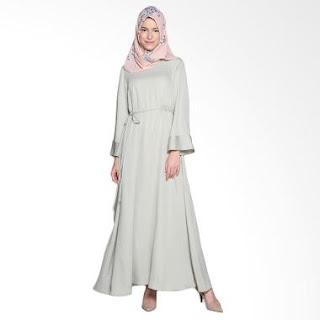 saury dress warna lembut yang cantik dan elegan