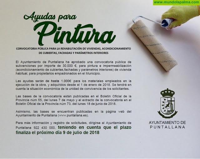 Hasta el próximo 9 de julio podrás solicitar las ayudas para pintura en Puntallana