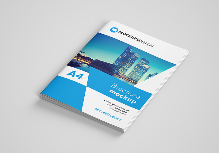 Free A4 Brochure Mockups Psd Download - MaxpoinT Hridoy
