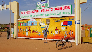 Me in front of the Exhibition of Artists in Ouagadougou