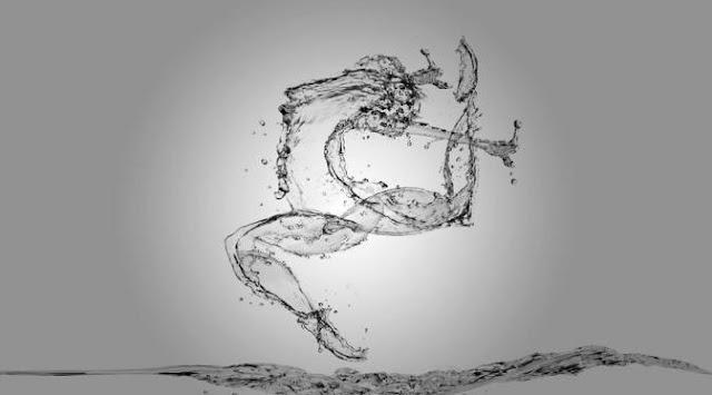 WooWW Keren!! 4 Ilustrasi Atlet Olimpiade Ini Dibuat dari Percikan Air