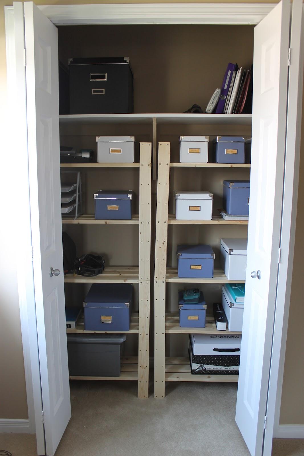 KM Decor: DIY: Home Office Closet Organization