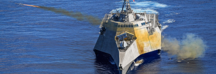Відео пусків ПКР NSM з борта USS Gabrielle Giffords (LCS 10)