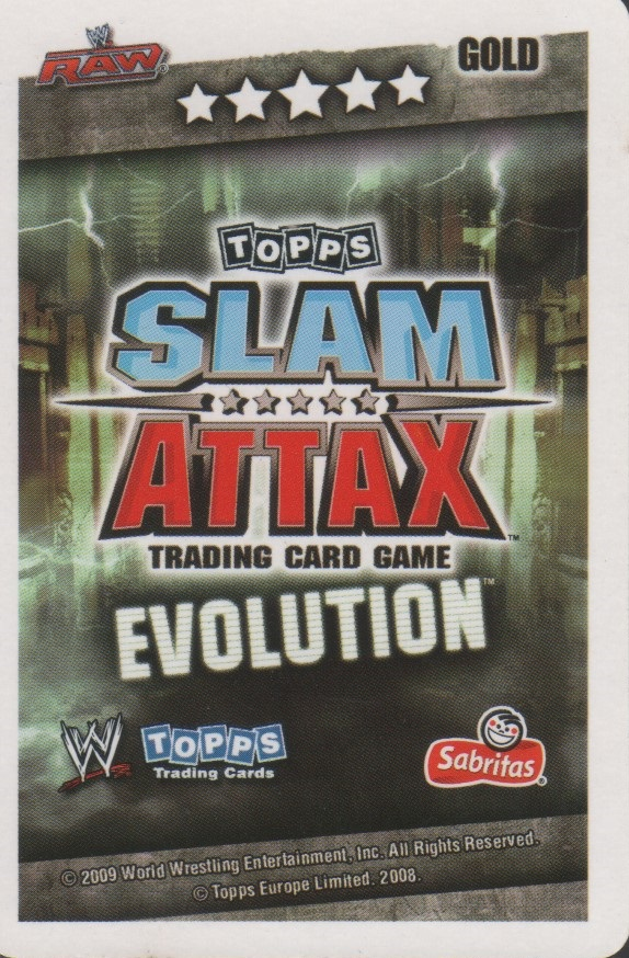 WWE Slam Attax Evolution Earthquake Legend Card