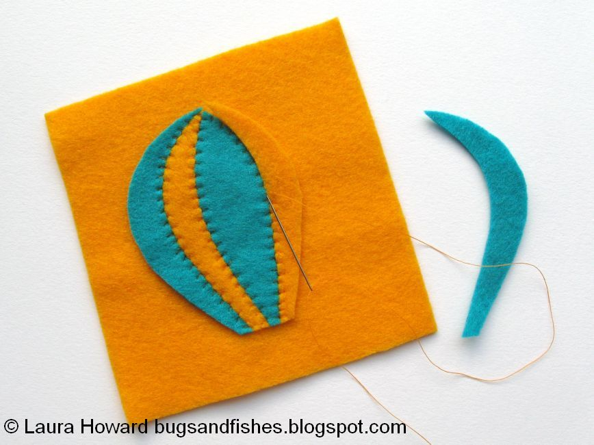 Bugs And Fishes By Lupin: How To: Sew A Felt Hot Air