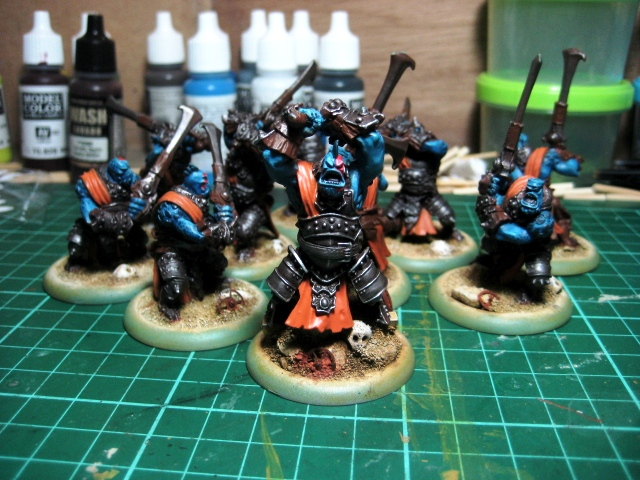 WIP - Trollbloods Fennblades armor painted  photo