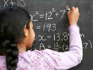 Girl student good at maths